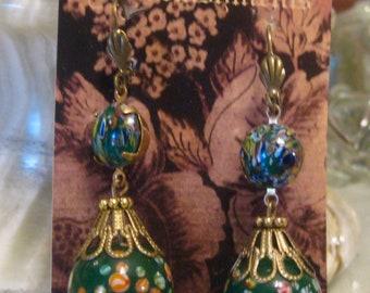 Millefiore' Lantern Earrings
