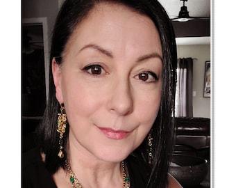 Italian Renaissance Necklace and Earring Set/ Clarice Orsini