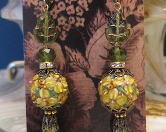 Lamp Work Bead Earrings