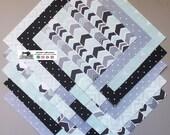 25-5 quot Geometric Light Green_Gray Fabric Squares Quilt Craft Sew Charm Packs 5613