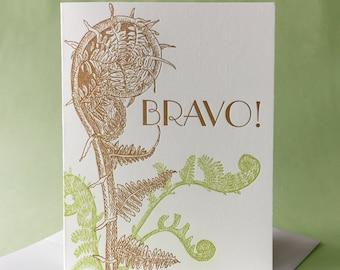 Fiddlehead Fern Bravo Congratulations and Blank Note Card