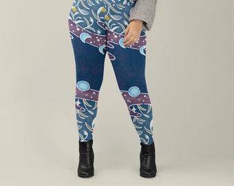 Tall Grass and Stars Plus Size Leggings