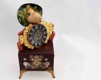 Steampunk ooak art doll, Copernicus the time keeper