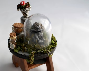Miniature gargoyle table,