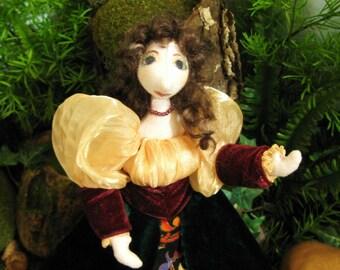 original art doll Miranda, Shakespeares The Tempest