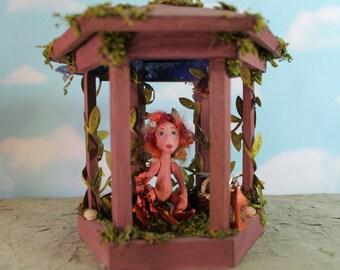 Faerie House, small art doll scuplture,