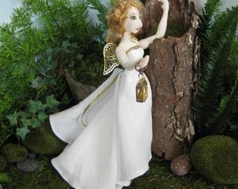 ooak angel cloth art doll, Crisiant