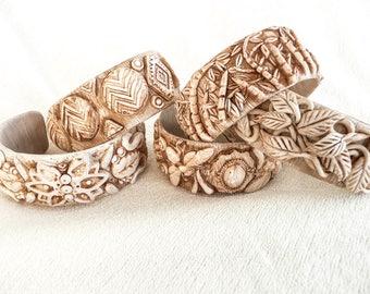 TUTORIAL:  Faux Bone Cuff Bracelet