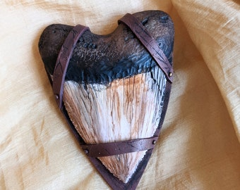 Faux Megalodon Tooth Brooch