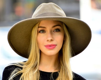 Wide Brimmed Fedora Hat Women's Hat Fall Fashion Fall Accessories Winter Accessories Fall Hat Wide Brim Boho Hat Felt Fedora Hat Fall Hat
