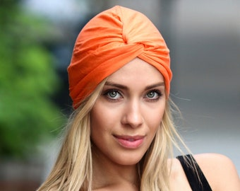 Soft Turban Hat Summer Hat Women's No-Tie Turban Everyday Turban Adult Turban Packable Turban