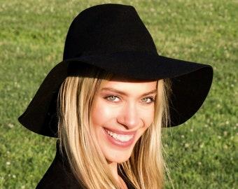 28d8dbc9b75c09 Wide Brimmed Hat Black Hat Floppy Hat Wide Brim Boho Hat Hippie Chic  Festival Crushable Packable Festival Fashion Western Style