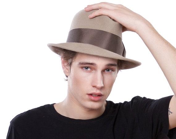 Men's Spring Fedora Hat Men's Fashion Men's Accessories Men's Dress Hat Men's Style Light Gray Fedora Hat Gangster Hat Bogart Fedora Hat