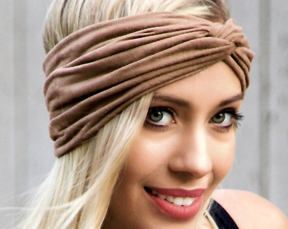 Vegan Suede Headband Women's Soft Headband Boho Chic Fall Fashion Head Wrap Hair Scarf Tan Beige Fake Suede Fake Leather Hair Accessory