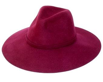 109d0e4b996 Burgundy Hat Womens Fedora Hat Women s Hat Wool Hat Fall Fashion Winter  Accessories Gift For Her Winter Hat Women s Felt Hat Men s Hat