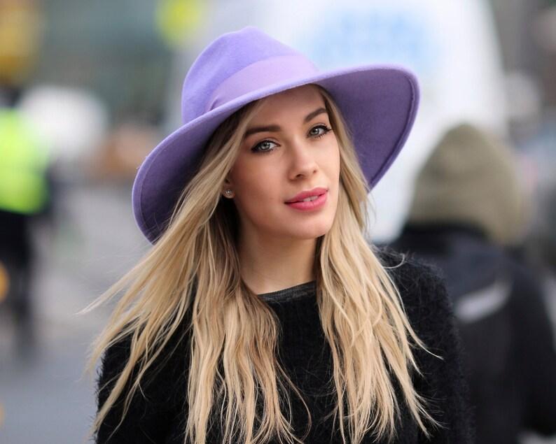 c513e9e8366 Wide Brimmed Fedora Hat Women s Hat Spring Fashion Spring