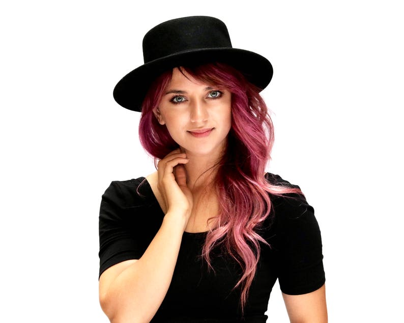 fb765561cd3 Boater Hat Women s Hat Fall Fashion Gaucho Hat
