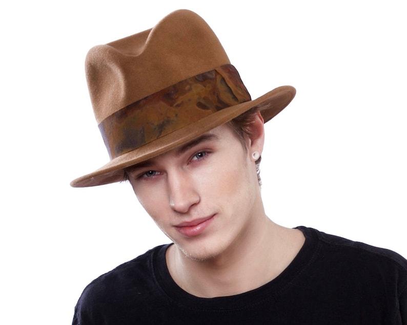 2aa3be4d985c32 Mens Fedora Hat 1930s Mens Hat 1940s Mens Hat 1950s Mens Hat | Etsy