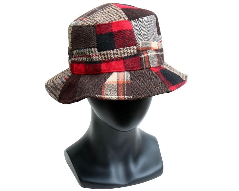 2a563c3f2ad19 Patchwork Hat Wool Tweed Men s Hat Women s Hat