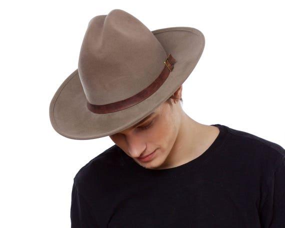 Men's Cowboy Hat Western Hat Rancher's Hat Men's Cowboy Hat Winter Accessory Felt Cowboy Hat Winter Hat Stetson Hat Cowgirl Hat Custom Hat