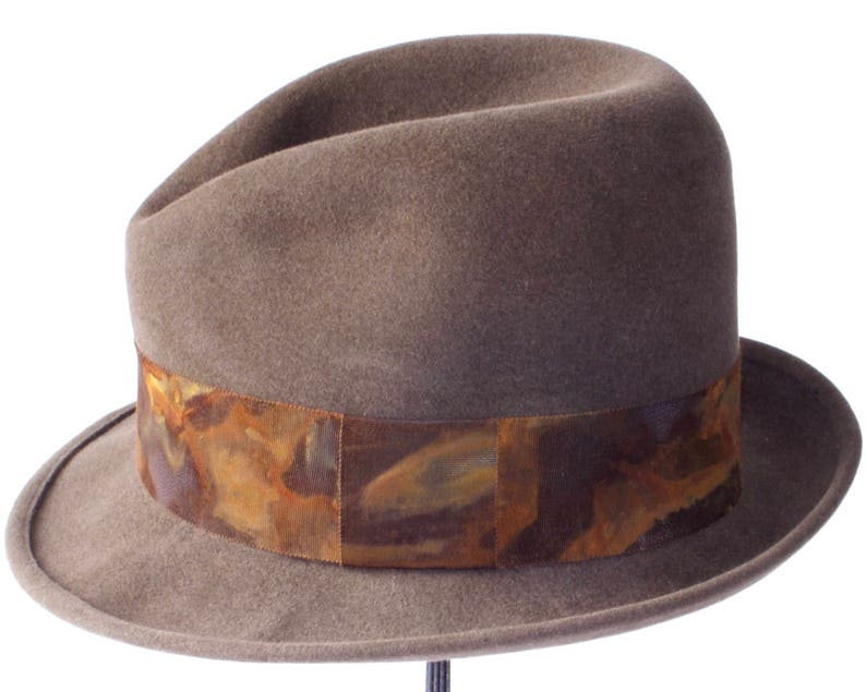 d5dbbcaf4178d0 Fedora Hat Men Open Crown Fedora Hat Homburg Men's Felt | Etsy