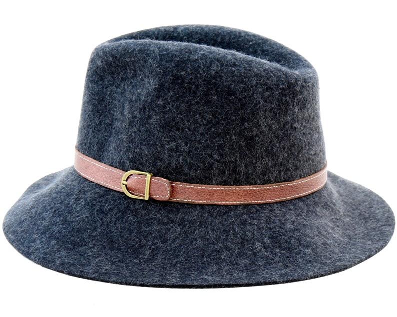 bf5f487139c Crushable Fedora Hat Wool Felt Hat Men s Hat Packable Hat