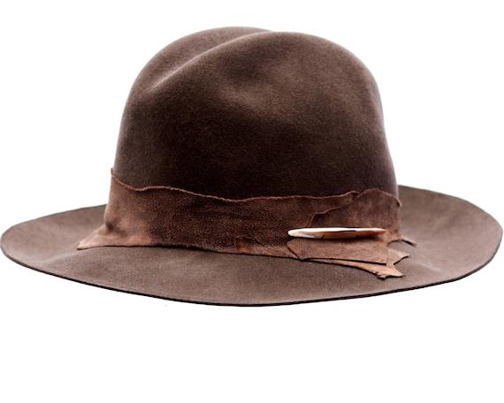 Wide Brimmed Felt Fedora Hat Cowboy Style Bohemian Fashion Men's Hat Women's Hat Cattleman Western Rodeo Hat Packable Crushable Fall Hat