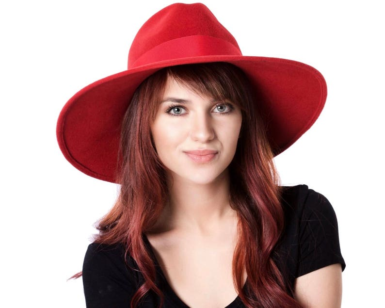0c5d54c3c67 Wide Brimmed Hat Red Fedora Hat Fall Fashion Fall Accessories