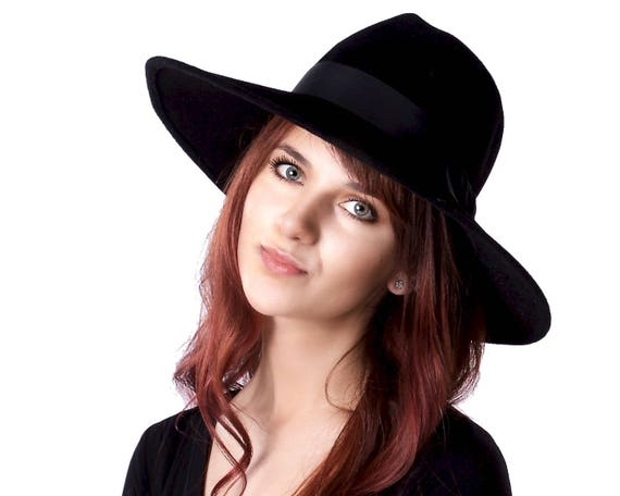 c98e7ba13be Black Fedora Hat Wide Brimmed Hat Fall Fashion Fall