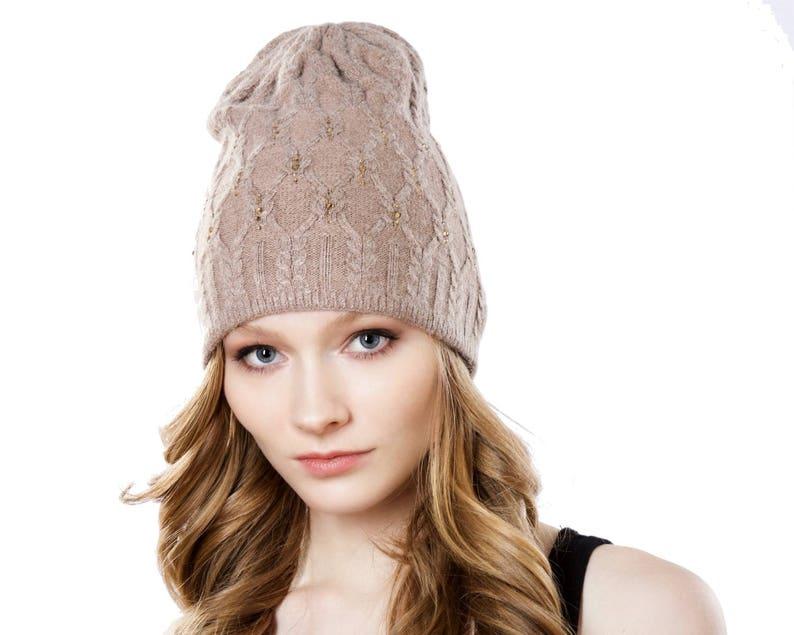 4cc36126687 Women s Beanie Hat Cashmere Slouchy Beanie Fall Fashion