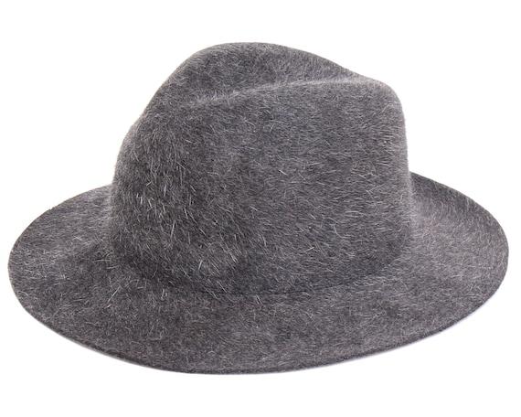 Men s Felt Hat Fedora Hat For Men Gray Hat Winter Hat  15e1b956a81
