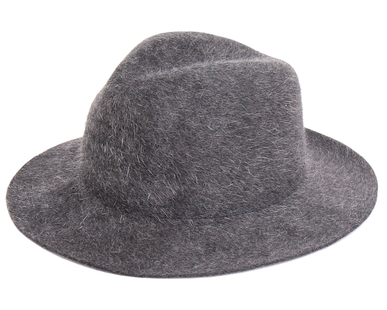 3b29a924fe0 Men s Felt Hat Fedora Hat For Men Gray Hat Winter Hat