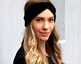 Knit Headband, Cashmere Ear Muff, Ear Warmer, Gift For Her, Women's Gift, Winter Accessories Turban Headband Fall Accessory, Ivory Headband