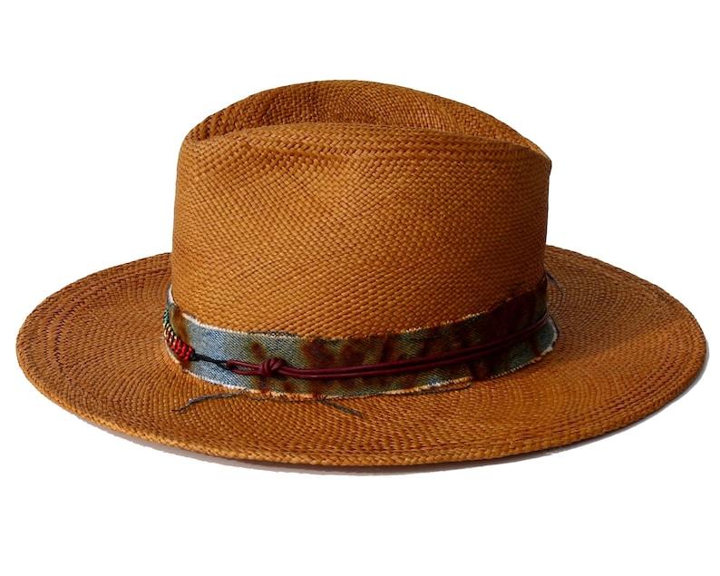 1976fa8783f Straw Fedora Hat Handmade Hat Handwoven Straw Hat Wide Brimmed