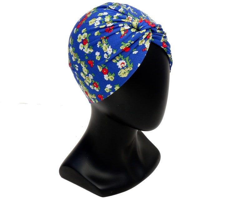 1940s Hair Accessories- Flowers, Snoods, Clips, Wigs, Bandannas Turban Hat Floral Print Turban Stretch Doo Rag Chemo Cap Skullcap Soft Packable Turban Beach Hair Wrap Tichel Hijab Head Scarf 1940s Turban $25.00 AT vintagedancer.com