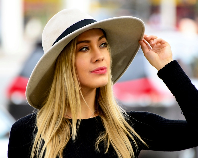 68ee3be2b88 Wide Brimmed Fedora Hat Women s Hat Fall Fashion Fall