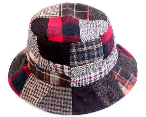 Patchwork Hat Wool Tweed Men s Hat Women s Hat  357b092ca03