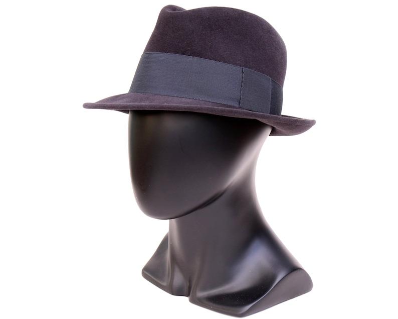 2d28941884b Navy Felt Fedora Hat For Men Dark Blue Hat Men s Dress Hat