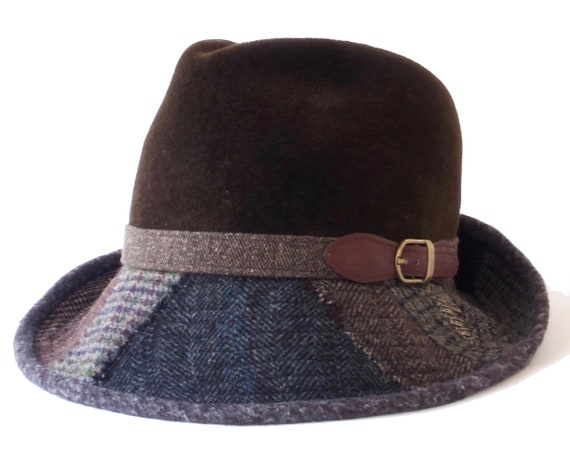 Patchwork Fedora Hat Men's Hat Women's Hat Spring Hat Spring Fashion Boho Hat