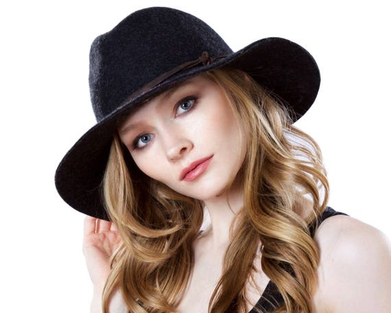 Crushable Fedora Hat Wool Felt Hat Men's Hat Packable Hat Fall Fashion Western Style Floppy Fedora Women's Fedora Couture Millinery Handmade