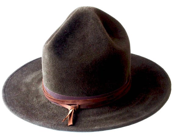 Mountie Hat Ranger's Hat Canadian Mountie Campaign Hat Wide Brimmed Hat Scout Hat Fall Fashion Men's Hat