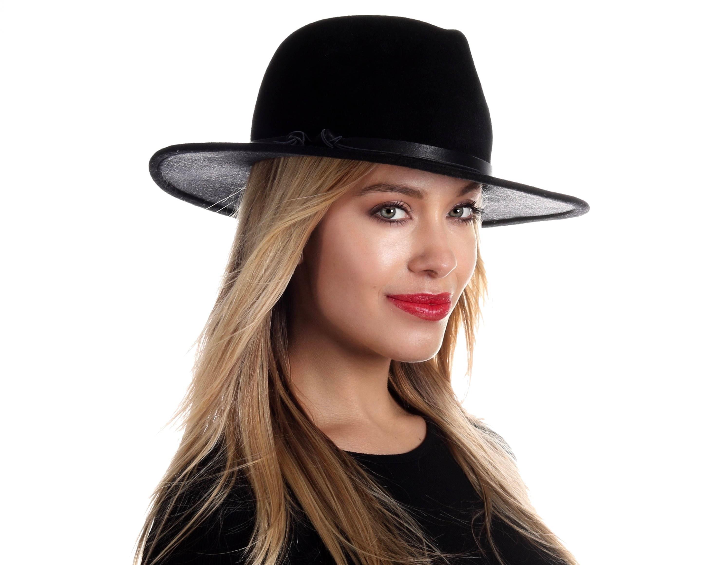 9960c35453f Wide Brimmed Fedora Hat Women s Hat Fall Fashion Fall