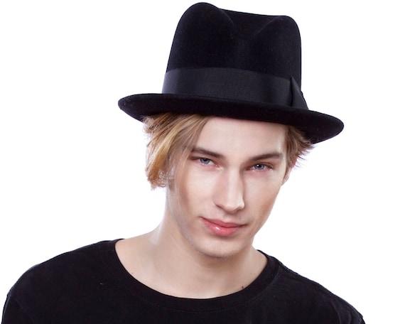 Mens Felt Fedora Hat 1920's Men's Hat Men's Accessories Spring Fashion Custom Hat Men's Fedora Open Crown Fedora 1930s Men's Hat