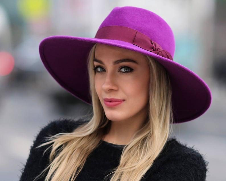 36d77c54926 Fedora Hat Wide Brimmed Women s Hat Fall Fashion Fall