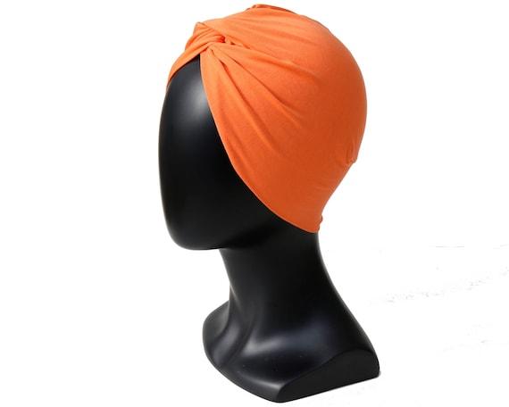 Orange Turban Hat
