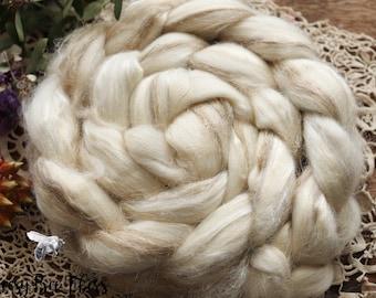 Roving 70 Icelandic   30 Silk Weaving Felting Spinning 1lb