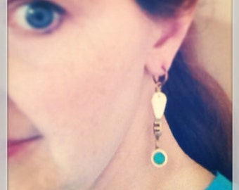 Spit valve and recycled glass earrings