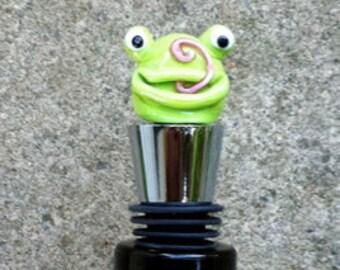 Silly Frog Wine Bottle Stopper
