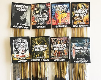 Hand Dipped Charcoal Incense 20 Sticks