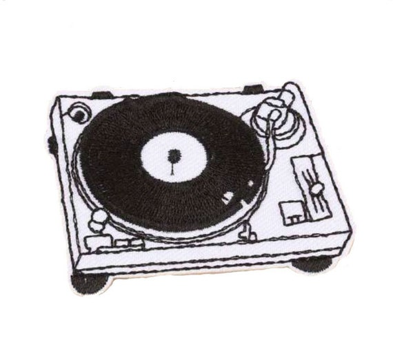 Embroidery Pom Pom Beanie DJ Turntable